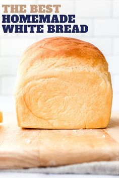 Homemade White Sandwich Bread: THIS is the recipe you need for easy and perfect white bread for everything from peanut butter and jelly to grilled cheese. Homemade Sandwich, Sandwich Bread Recipes, Breakfast Bread Recipes, Bread Machine Recipes, Best White Bread Recipe, Homemade White Bread, Homemade Breads, Cloud Bread, Fresh Bread