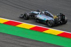 2014 MERCEDES F1 W05 LEWIS HAMILTON @ BUS STOP CHICANE