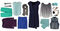 Blue is a great transitioning color going from Winter to spring! Stitch Fix shows you how to mix and match! <3