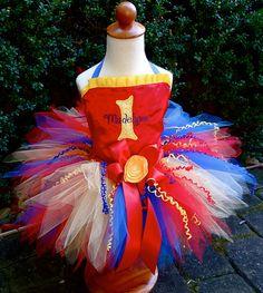 Circus Princess Birthday Pixie Tutu Outfit; Custom Made by PoshPinksTutu, $79.00