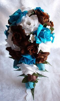 if I were to switch my colors from purple to brown I would so pick this bouquet