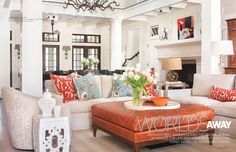 Love the colors & patterns in this room (Traditional Home)
