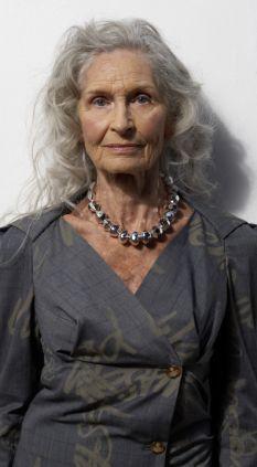 Grey matter: Model Daphne Selfe believes in growing old gracefully