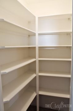 How to Build Floor To Ceililng Shelves. For a closet, pantry or garage.
