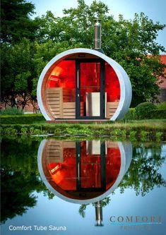 Zen Outside Eclipse sauna Outdoor Sauna, Jacuzzi Outdoor, Sauna Wellness, Sauna House, Capsule Hotel, Guest Cabin, Precast Concrete, Dome House, Earthship