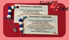 SWAPS4Free: Argentina Scouting in Card World Thinking Day Girl Scout SWAPS - Free Printable!