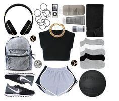 """""""You comin' or nah?"""" by clampigirl ❤ liked on Polyvore featuring adidas Originals, NIKE, Alexander Wang, M&S Collection, Michael Kors, Waterworks, Issey Miyake, Living Proof, H&M and Betsey Johnson"""