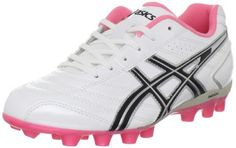 ASICS Lethal GS 4 Soccer Shoe (Little Kid/Big Kid) ASICS. $43.22. Multi-function cleats cut and rotate through turf while providing exceptional grip and stability. Synthetic upper. Rearfoot GEL® Cushioning System reduces shock. A sleek introductory soccer shoe that lets her get used to playing in cleats. 10mm heel gradient shifts body mass forward, reducing strain on lower limbs. Manmade sole. Leather and mesh