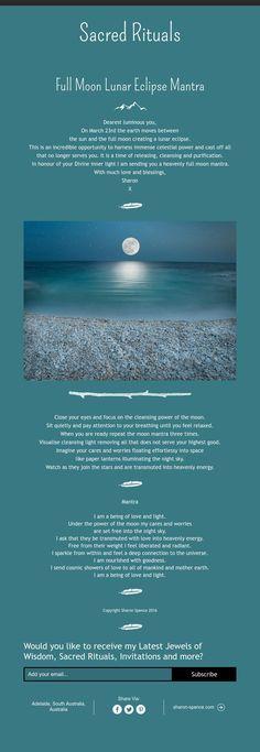 Full Moon Lunar Eclipse Mantra