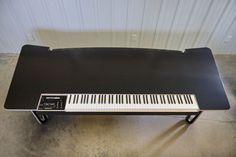 Bespoke music studio desk integrating a Doepfer and its 88 weighted Fatar MIDI controller key bed. Recording Studio Furniture, Editing Suite, Studio Equipment, Sound Design, Home Studio, Design Consultant, Working Area, Bespoke, Desks