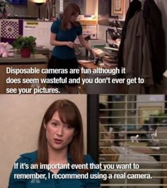 """When Erin threw away her disposable camera: 67 Underrated Jokes From """"The Office"""" Guaranteed To Make You Laugh Office Theme Song, Office Themed Party, Office Birthday, Office Themes, Office Parties, Surprise Birthday, 13th Birthday, The Office Erin, Best Of The Office"""