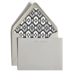 Silver letterpress custom stationery set on Smoke colored stock from the Classic Correspondence Collection by Haute Papier