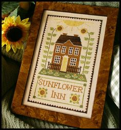 Fallen in love with LHN and CCN patterns. Good idea for a B&B with the yellow front door & feilds of sunflowers for Anna Blair.