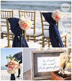 For a Florida wedding Beach Wedding Aisles, Wedding Bells, Wedding Events, Wedding Ceremony, Our Wedding, Dream Wedding, Beach Weddings, Wedding Stuff, Reception