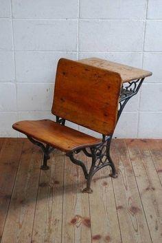 アンティーク40's50'sチャーチチェアデスク教会テーブルスツール Antique church chairs ¥16800yen 〆04月26日
