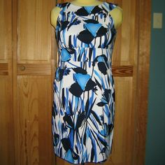 Jessica Howard Blue Floral Sheath Dress This dress is brand new. It is a blue floral sheath dress, I think about knee length. Made of 97% polyester 3% spandex. Tag size is 14. Jessica Howard Dresses