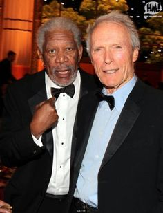 Morgan Freeman and Clint Eastwood