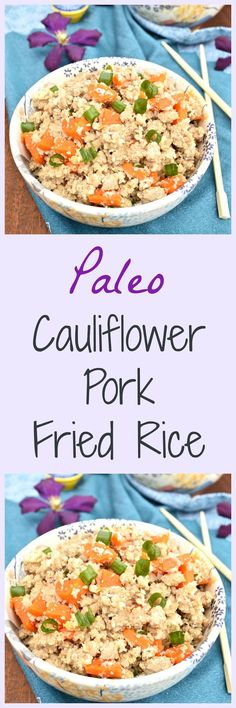 Pure and Simple Nourishment : Cauliflower Pork Fried Rice and One Pot Paleo Book Giveaway (Paleo, Grain Free, Gluten Free)