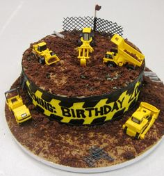 Boy's construction theme birthday cake. Cakes by Graham     More Than Just Icing On The Cake