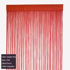 Wholesale (12 pieces/lot) 3'x9'(90x275cm) Bright Red fringe string curtain for home decor and room divider Free shipping on AliExpress.com. $188.76