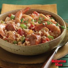A mouthwatering recipe for authentic Creole Jambalaya using gluten-free Mahatma White Rice.