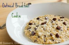 Oatmeal Breakfast Cookie- microwave