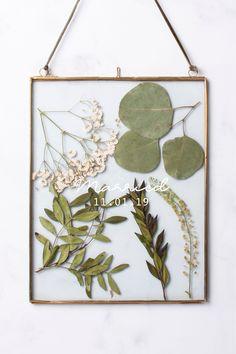 Personalised Pressed Leaf Hanging Frame by Loveabode - Clear Pressed Flowers Frame, Pressed Leaves, Pressed Flower Art, Flower Frame, Flower Wall, Frame With Flowers, Flower Picture Frames, Hanging Flowers, Hanging Frames