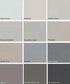 Benjamin Moore Storm | Grey Paints - Benjamin Moore - I believe Storm is the ... | Home Decor