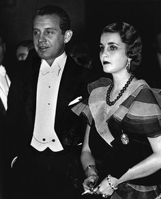 Barbara Hutton and Alexis Mdivani. Barbara Hutton is wearing her famous jadeite necklace.