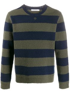 Da Uomo Designer Contrasto Maniche Lunghe Polo Roll Collo Lavorato a Maglia Pullover Sweater Jumper