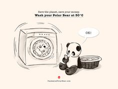 It takes Kung Fu to put Polar Bear in the wash.