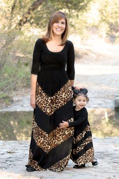 How darling are these mommy and me animal print dresses??? #beinspiredboutique #mommyandme #justlikemommy