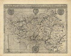 Carte de la Bretagne des années 1500
