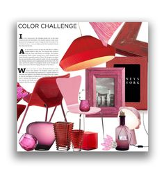 """""""Red Pink"""" by marionmeyer on Polyvore featuring interior, interiors, interior design, Zuhause, home decor, interior decorating, Barneys New York, Cost Plus World Market, Qeeboo und Seletti"""