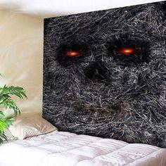 Wall Art Hay Skull Print Bedroom Tapestry