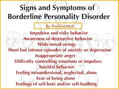 10 Signs of Borderline Personality Disorder -Posted on DECEMBER 10, 2013 ; by NIMA SHEI