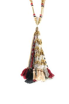 Ruby Yaya Multi Tassel chain Gold 5 get it today. Tassel Necklace, Tassels, Chain, Clothing, Gold, Jewelry, Outfit, Jewellery Making, Clothes
