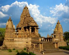Khajuraho Temples: there is a series of 5-7 of these within walking distance of one another ranging in size & scale. All amazing in beauty, I couldn't believe how much detail and time each sculptured piece must have taken . The pyramids don't hold a candle to this ( sorry if I offend anyone)