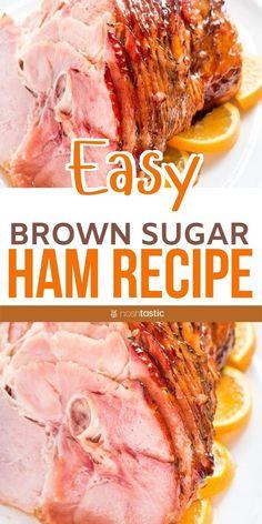 Ham Glaze Brown Sugar, Honey Glazed Ham, Honey Baked Ham Recipe Brown Sugar, Crockpot Brown Sugar Ham, Ham In Crockpot, Honey Baked Ham Glaze, Crock Pot Ham, Easy Ham Glaze, Homemade Ham Glaze