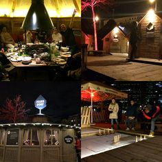 Our family's amazing winter barbecue in our own log cabin at Vienna's Feuerdorf on the Danube canal, along with some ice curling. Vienna Winter, Vienna Restaurant, Barbecue Restaurant, Restaurants, Cabin, Amazing, Fire, Cabins