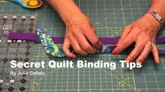 SCROLL DOWN, FIND The Words (Next Page) It takes you to where you'll find the Video Tutorial This is a series of 3 Videos. They each have great Tips and if you're new or struggled with applying a binding to your quilt these are detailed for even the most novice quilter. Pay Close attention to …