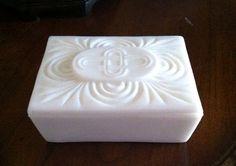 Kemple Milk Glass dresser Box Versailles Pattern by FrannieBee, $18.00