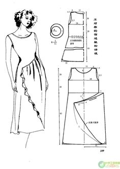 Chinese site with illustrations showing how to create a lot of different dress patterns. Several have really unique pocket applications.