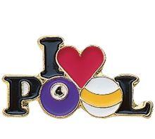 I Love Pool Pin