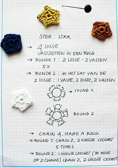 Crochet Twinkle Little Star - Chart ❥ 4U // hf