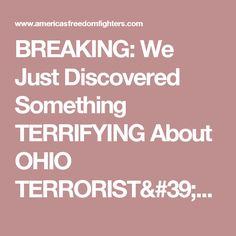 BREAKING: We Just Discovered Something TERRIFYING About OHIO TERRORIST'S Mosque... MSM Totally SILENT