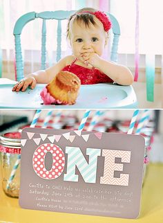 #2 - Pretty Bunting Themed First Birthday!