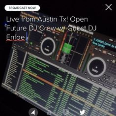 We're going live on #periscope. Open Future w/ Guest DJ @enfoe of the @txscratchleague! #turntablism #clubmusic #hiphop #bassmusic follow me at @darioaravena! by darioaravena http://ift.tt/1HNGVsC