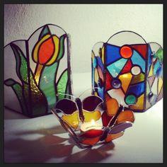 Portavelas #vitrales #vitral #vitraux #arte #arteenvidrio #stainedglass #diseño #decoracion #arquitectura