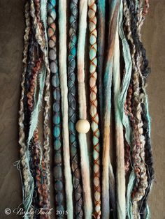 10pc Mixed Native & Sand Custom Order Tie-Dye Beaded Wool Dreads Bohemian Hippie Dreadlocks Tribal Synthetic Boho Extensions